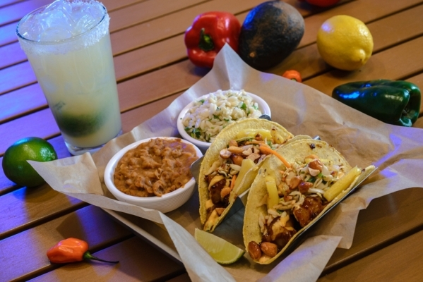 Kung Pow Shrimp tacos are served at Hussong's Cantina. (Courtesy photo)