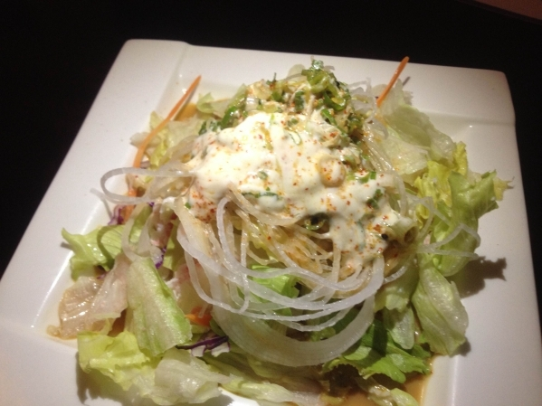Crab salad is seen at Krazy Sushi July 27. (Sandy Lopez/View)