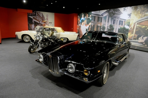 "A room at ""Graceland Presents ELVIS: The Exhibition — The Show — The Experience"" at Westgate, 3000 Paradise Road, includes several of Elvis Presley's vehicles. (Special to View)"