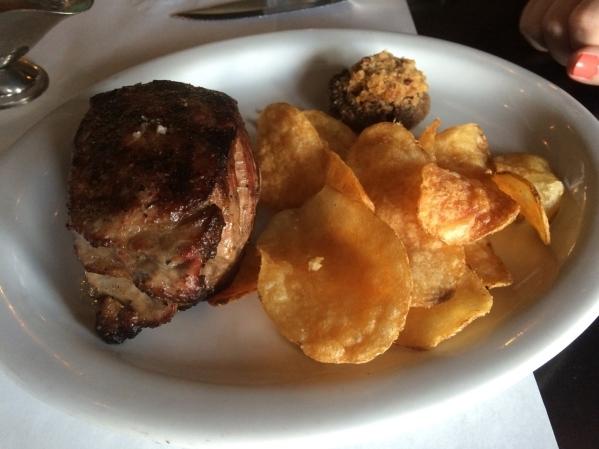 The Spencer Steak ($27.70) is shown at Echo & Rig in Tivoli Village. (Jan Hogan/View)