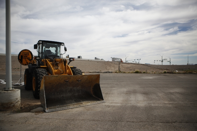 The Centennial Bowl Interchange is seen during a ground-breaking ceremony for phase III of the improvement project near Interstate U.S. 95 and the westbound 215 Beltway in Las Vegas Thursday, Aug. ...