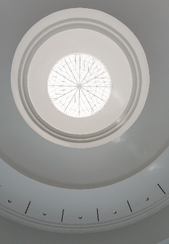 A domed ceiling is shown looking up from the front lobby at International Peace Education Center, located at 6590 Bermuda Road, Tuesday, Aug. 4, 2015, in Las Vegas. The center, which is slated to  ...