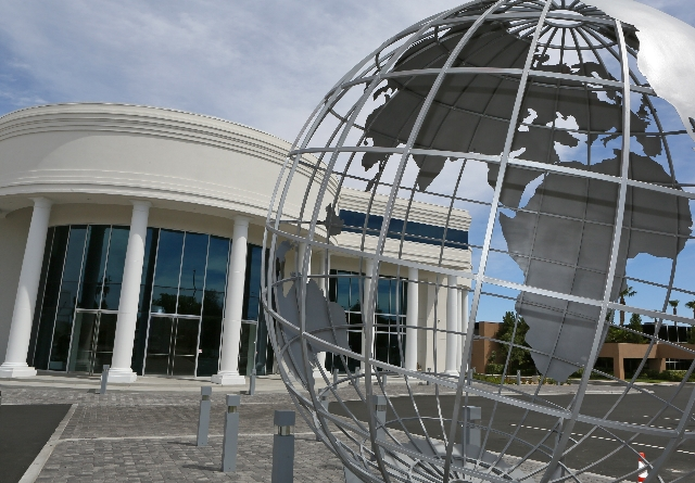 The International Peace Education Center is shown at 6590 Bermuda Road Tuesday, Aug. 4, 2015, in Las Vegas. The center, which is slated to celebrate its grand opening Aug. 11, will house small con ...