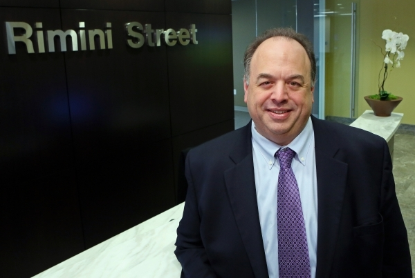 Rimini Street, led by CEO Seth Ravin, above, is adding 11,000 square feet of office space to its headquarters in the Hughes Center. (Ronda Churchill/Las Vegas Review-Journal)