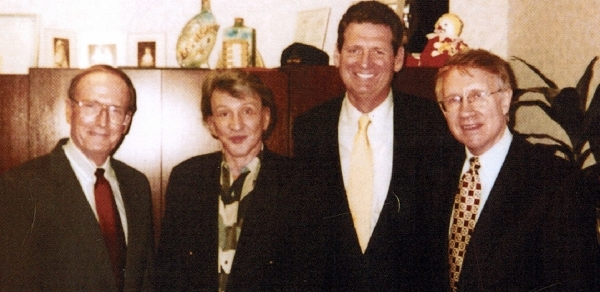 FILE*** LOCAL - Nevada VIP's, from left, Senator Richard Bryan, D-Nev., Bob Stupak, Governor Bob Miller, Senator Harry Reid, D-Nev., pose in this undated courtesy photo. PHOTO COURTESY OF STUPAK