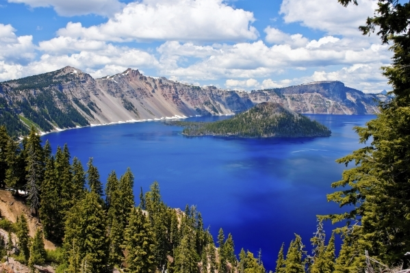 Oregon's Crater Lake was created when a volcanic peak collapsed nearly 8,000 years ago. (Thinkstock)