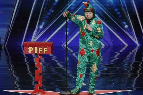 "John van der Put, as Piff the Magic Dragon, performs on NBC's ""America's Got Talent."" (Eric Liebowitz/NBC)"