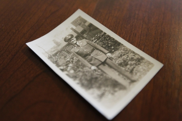 A photo of Francis Rudolph who served in WWII is seen on Wednesday, August 5, 2015. Rudolph's father Francis served in World War II and saw the bombing of Hiroshima, which was 70 years ago.  ...