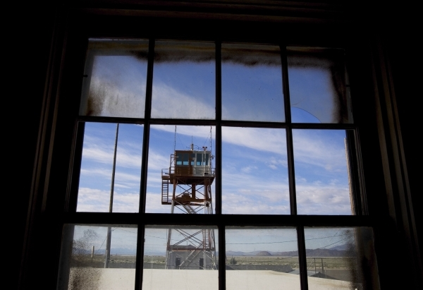 The operations tower at Wendover Field is seen from the officer's service club June 1, 2005. The officer's club included a gym, a bar and a dining room. Jeff Scheid/Las Vegas Review-Jo ...