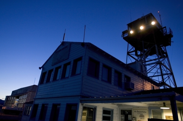 This is the flight operations building and control tower at Wendover Field, taken June 1, 2005. Wendover Field was the training site for bombing crews for B-24 and B-17 aircraft and the crews that ...