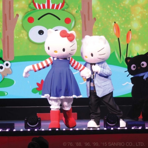 Hello Kitty and her childhood friend Dear Daniel take the stage at Hello Kitty's Supercute Friendship Festival. (Courtesy photo)
