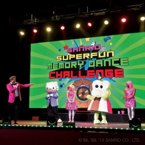 Daniel and Keroppi join a few of Hello Kitty's human friends for one of the Hello Kitty's Supercute Friendship Festival live events. (Courtesy photo)