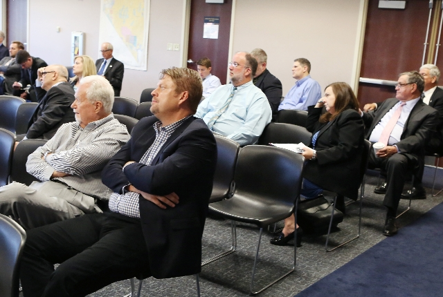 People attend a legislative hearing on Uber-related legislation at Grant Sawyer Building Monday, Aug. 10, 2015. BIZUAYEHU TESFAYE/LAS VEGAS REVIEW-JOURNAL / FOLLOW HIM: @BIZUTESFAYE