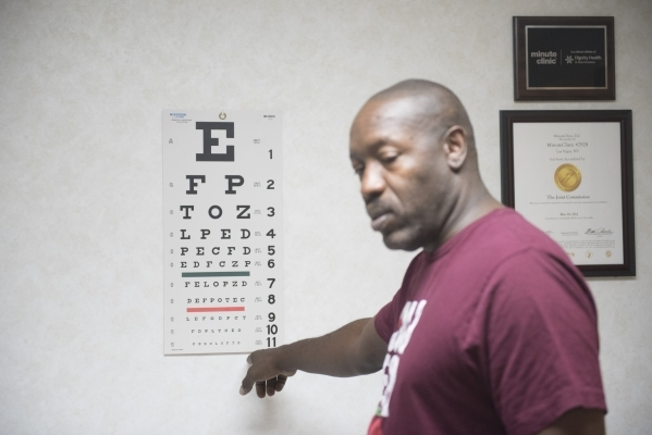 Anthony Howard is shown during his appointment at CVS pharmacy's Minute Clinic, where he went to have a physical. (Jason Ogulnik/Las Vegas Review-Journal)