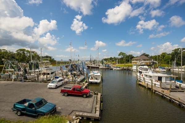 Shrimp boats rest in a harbor in Ocean Springs, Miss., on Aug. 15.   Joshua Dahl/Las Vegas Review-Journal