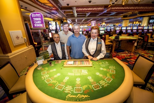 From left, employees Hung Vu, Robert Hannum, Nick Schwartz and Bonnie Charleton stand Aug. 13 on the casino floor of the Beau Rivage in Biloxi, Miss. They endured the aftermath of Hurricane Katrin ...