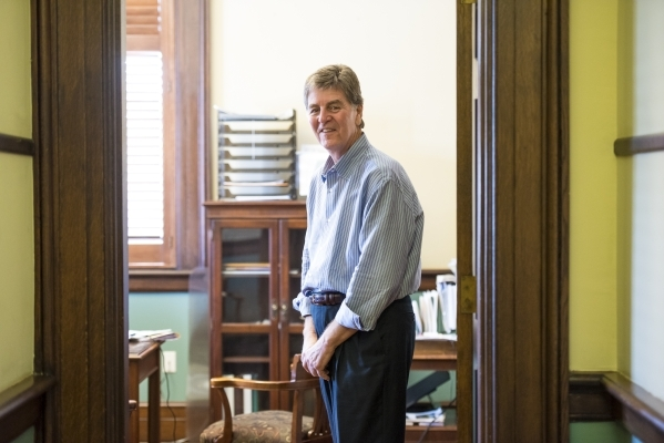 """Mayor Andrew """"FoFo"""" Gilich stands in his office at City Hall in Biloxi, Miss. The Gulf Coast in the past 10 years has faced the challenges of hurricanes, the Deepwater Horizon oil spill  ..."""
