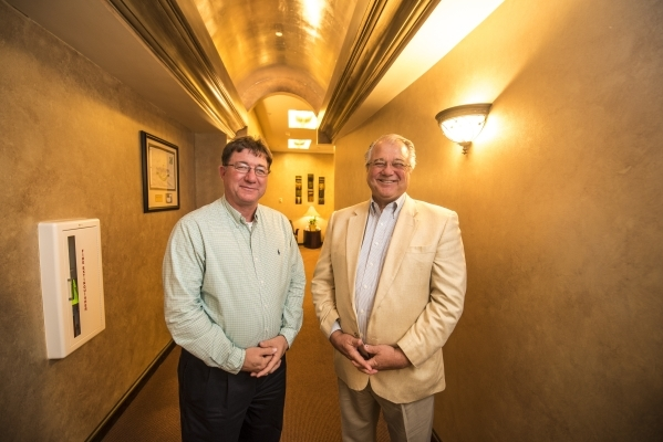Alfred Sexton, director of security, and Duncan McKenzie, general manager, stand Aug. 12 inside offices at the IP Biloxi hotel-casino in Biloxi, Miss.   Joshua Dahl/Las Vegas Review-Journal