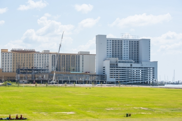 """Construction of a new hotel and waterpark is underway Aug. 12 in Biloxi, Miss. Beau Rivage General Manager Marcus Glover says: """"A diversification to the economy is important. We need attracti ..."""