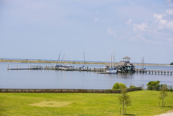 Boats are seen at a dock Aug. 12 in a harbor in Biloxi, Miss.   Joshua Dahl/Las Vegas Review-Journal