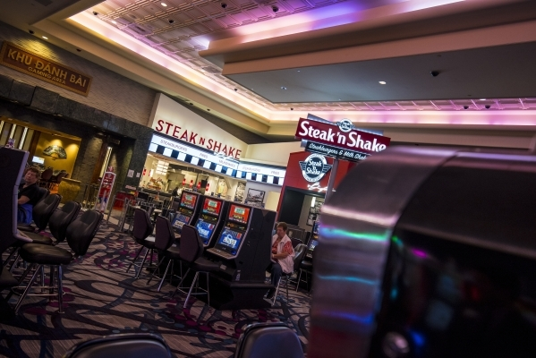 A Steak 'n Shake eatery is located inside Harrah's Gulf Coast in Biloxi, Miss.   Joshua Dahl/Las Vegas Review-Journal