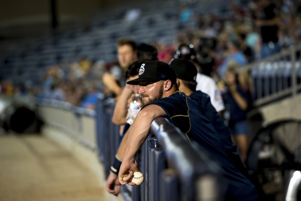 Fans watch the Biloxi Shuckers take on the Pensacola Blue Wahoos at MGM Park on Aug. 12. (Joshua Dahl/Las Vegas Review-Journal)