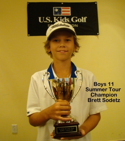 Brett Sodetz of Henderson won his age group at the U.S. Kids Golf world championship at Pinehurst, N.C., at the age of 6 in 2008. He played nine holes each day, par-27, 1,300 yards and shot 7 unde ...