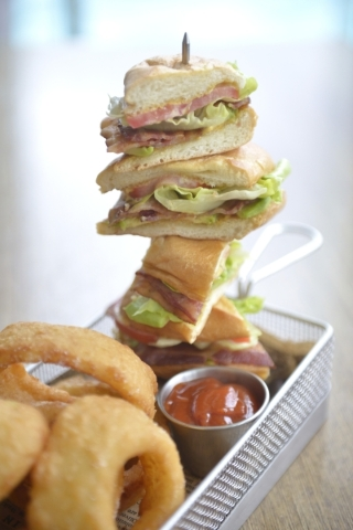 The BLT sandwich at Cafe 6 in  Palms Place. (Jacob Kepler/Las Vegas Review-Journal)