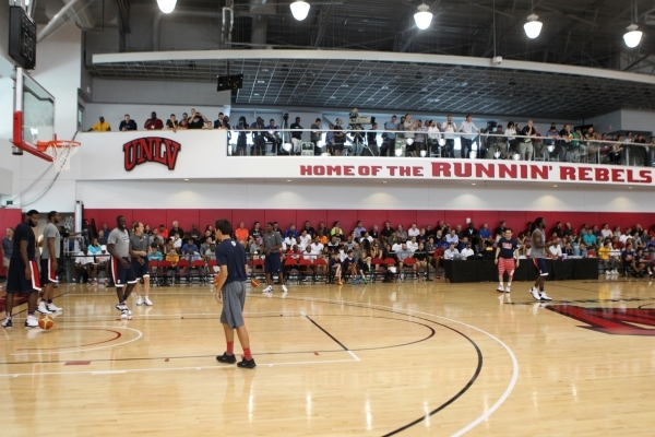 USA Basketball Men's National Team players stand on the court during a mini-camp practice at the Mendenhall Center on the UNLV campus in Las Vegas Tuesday, August 11, 2015. ERIK VERDUZCO/LAS ...