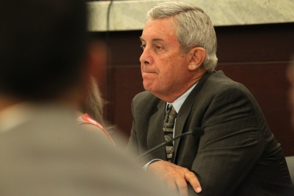 Chief Justice James Hardesty listens during public comment in the second meeting of the Nevada Supreme Court Panel on Guardianship at the Regional Justice Center in Las Vegas Monday, Aug. 17, 2015 ...