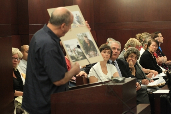 People listen during public comment in the second meeting of the Nevada Supreme Court Panel on Guardianship at the Regional Justice Center in Las Vegas Monday, Aug. 17, 2015. ERIK VERDUZCO/LAS VEG ...
