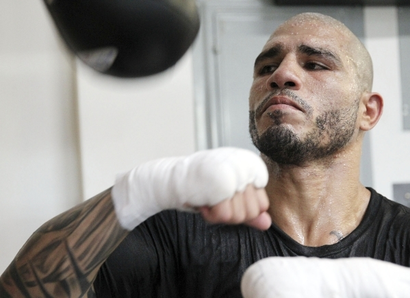 Miguel Cotto, shown in May 2014, will put his World Boxing Council middleweight title on the line against Canelo Alvarez on Nov. 21 at Mandalay Bay Events Center. They will fight at a catchweight  ...