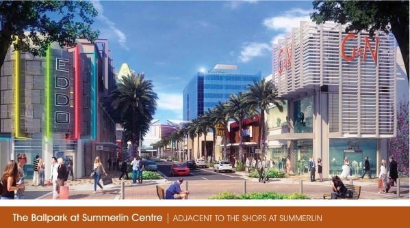 A rendering of Summerlin Centre, near the proposed ballpark COURTESY PHOTO