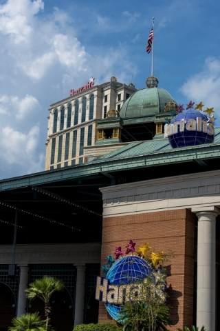 Harrah's Hotel is seen behind the casino in New Orleans on Aug. 11. Joshua Dahl/Las Vegas Review-Journal