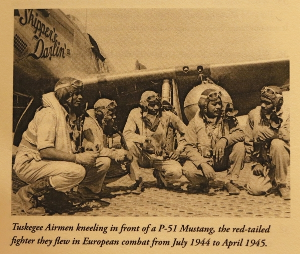 "A photograph is shown from ""Tuskegee Airmen Questions and Answers for Students and Teachers"" by Daniel Haulman."