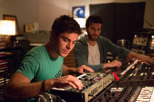 """Zac Efron, left, and Wes Bentley are shown in a scene from """"We Are Your Friends."""" (Courtesy Warner Bros.)"""