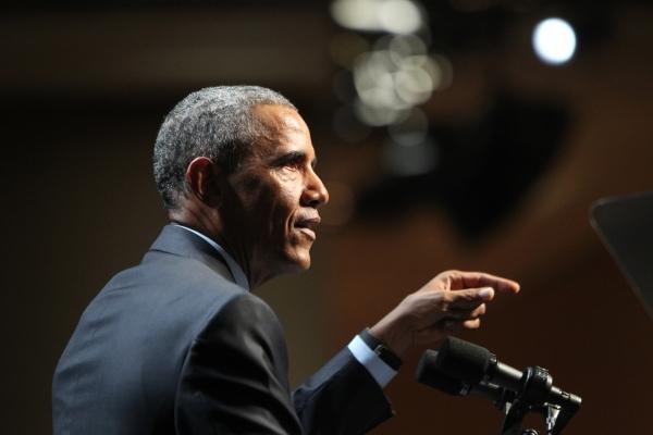 President Barack Obama speaks during the National Energy Summit 8.0 at Mandalay Bay casino-hotel in Las Vegas Monday, Aug. 24, 2015. ERIK VERDUZCO/LAS VEGAS REVIEW-JOURNAL Follow him