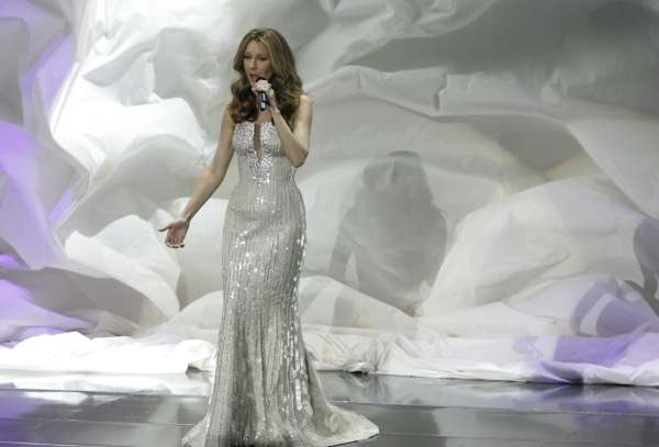 Celine Dion performs at Caesars Palace during the opening night of her show in March 2011. (Review-Journal file)