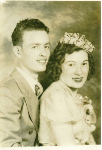 "William Kenneth ""Ken"" and Ruth Geraldine ""Jerry"" Boswell are shown in their wedding photo, taken Aug. 30, 1940. Courtesy photo"