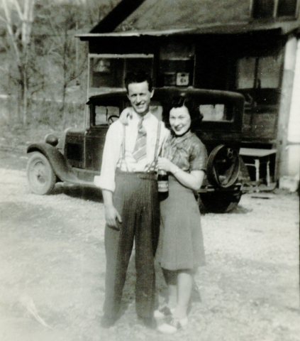 "William Kenneth ""Ken"" and Ruth Geraldine ""Jerry"" Boswell are shown in a photo taken when they were dating. The couple are celebrating their 75th wedding anniversary. Courtesy photo"