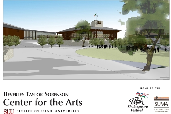 A rendering of the new Engelstad Shakespeare Theater. The theater won't have a retractable rain roof as planned when it opens next June because of a shortage of money and time. Courtesy photo