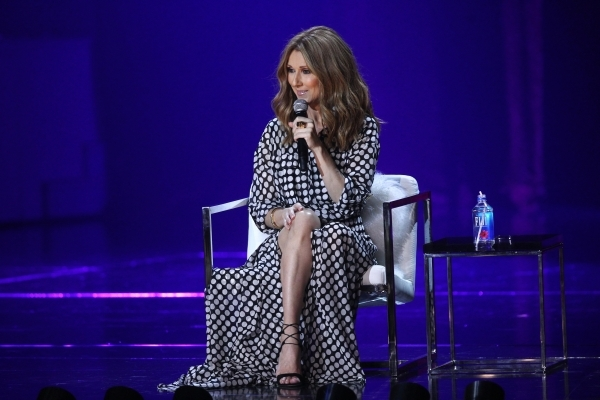 Celine Dion performs at the Colosseum at Caesars Palace hotel-casino, following a year-long hiatus, in Las Vegas on Thursday, Aug. 27, 2015. Chase Stevens/Las Vegas Review-Journal Follow