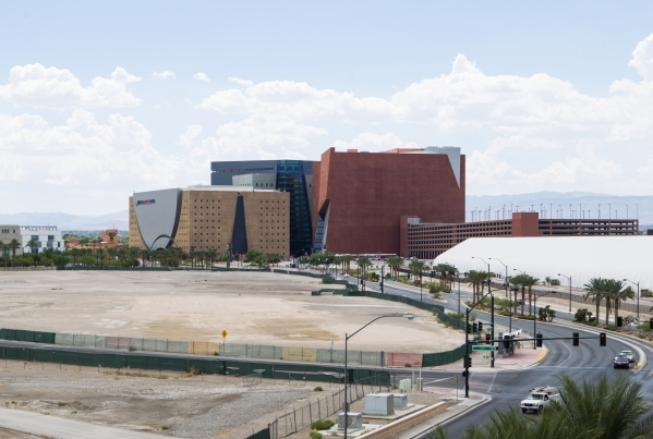 Undeveloped land that is part of Symphony Park is seen from the Molasky Corporate Center in Las Vegas on Friday, Aug. 28, 2015. Chase Stevens/Las Vegas Review-Journal Follow