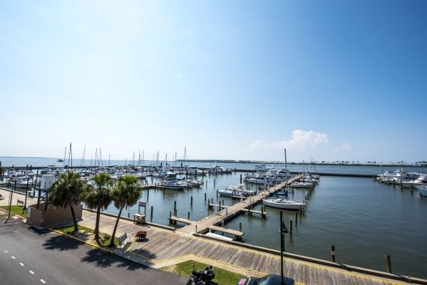 Boats rest in a harbor in Biloxi, Miss. on Thursday, Aug. 13, 2015. (Joshua Dahl/Las Vegas Review-Journal)
