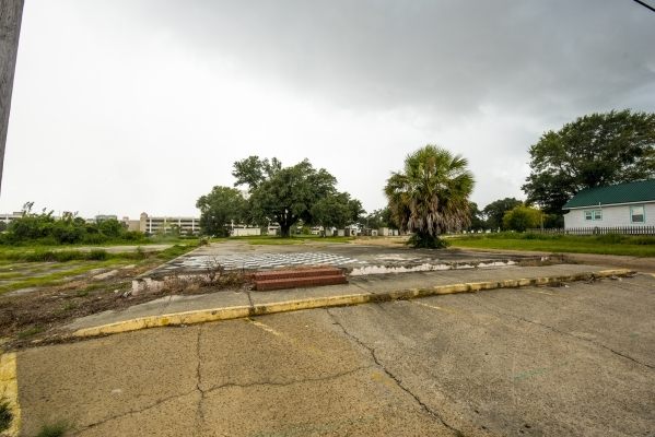 A empty lot where a house once was in Biloxi, Miss. before Hurricane Katrina is shown on Saturday, Aug. 16, 2015. (Joshua Dahl/Las Vegas Review-Journal)