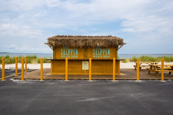 An outdoor bar stands alone from the Silver Slipper Casino in Bay St. Louis, Miss. on Tuesday, Aug. 11, 2015. (Joshua Dahl. Las Vegas Review-Journal)