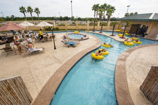 Hotel guest float in the lazy river at the Hollywood Casino in Bay St. Louis, Miss. on Tuesday, Aug. 11, 2015. (Joshua Dahl/Las Vegas Review-Journal)