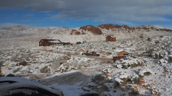 Snow covers the ground at the Sheahan family's property near Groom Lake in this 2013 photo. Courtesy, Sheahan family
