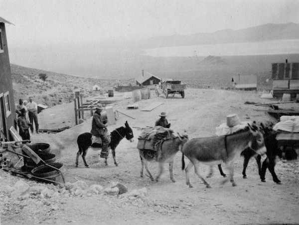 The Groom Mine site near Groom Lake is shown in this photo from the early 1900s. Courtesy, Sheahan family