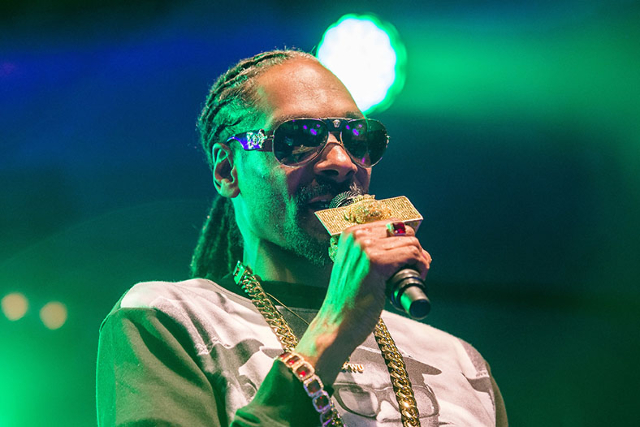 Rapper Snoop Dogg performs in Uppsala, Sweden, July 25, 2015. (Marcus Ericsson/REUTERS)